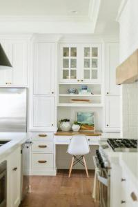 Built In Kitchen Desk Nook with Butcher Block Top ...