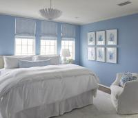 Blue Bedroom with Blue Coral Art Gallery Wall - Cottage ...