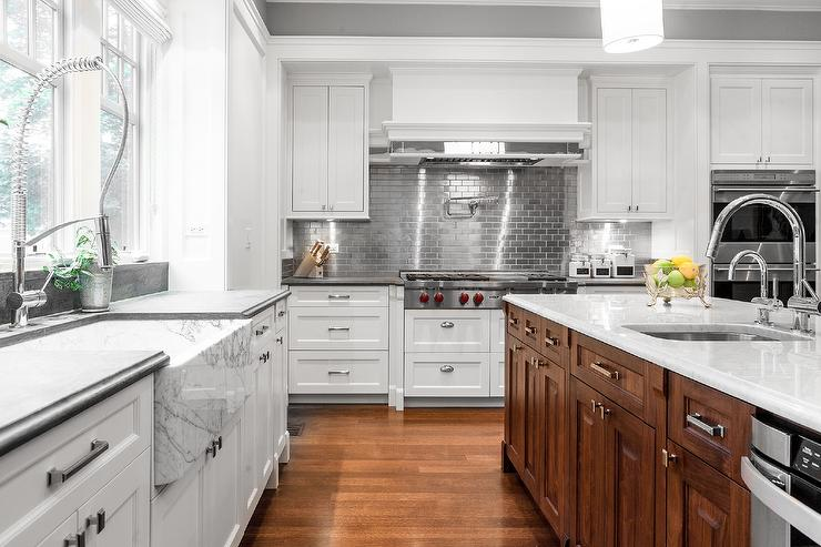 white kitchen cabinets stainless steel subway tile backsplash kitchen subway tile backsplash classic sweetest digs