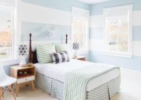 Horizontal Stripes In Bedroom - Home Design