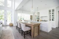 Center Island Doubles as Dining Table - Transitional - Kitchen