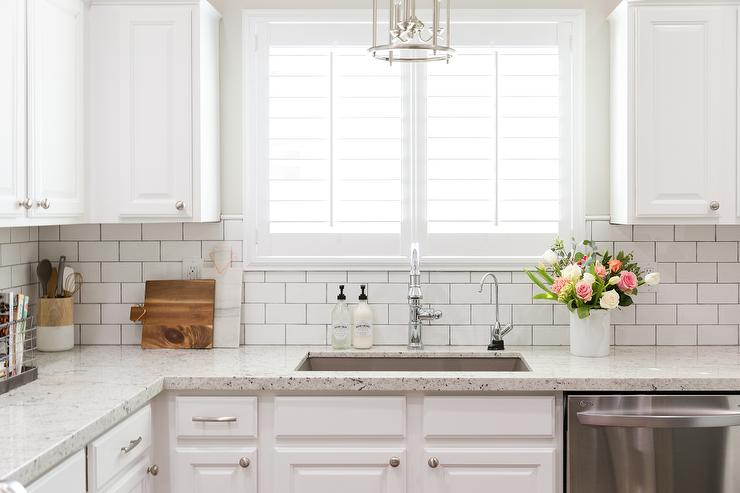 white granite kitchen countertops white subway tile backsplash kitchen subway tile backsplash classic sweetest digs