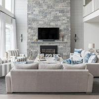 Two Story Living Room Design Ideas