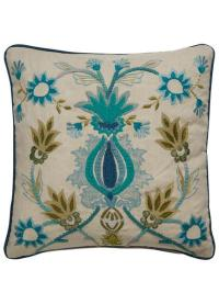 Blue Floral Pillow Cover - Pottery Barn