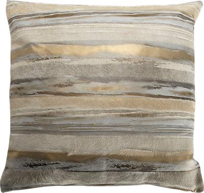 Black White And Silver Striped Wallpaper Gold And Silver Metallic Striped Cowhide Pillow