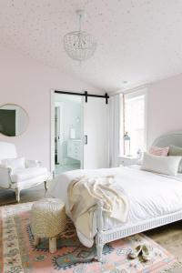 Pink Girls Bedroom with Cole and Sons Stars Wallpaper on ...