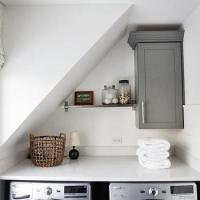 Laundry Room Sloped Ceiling Design Ideas