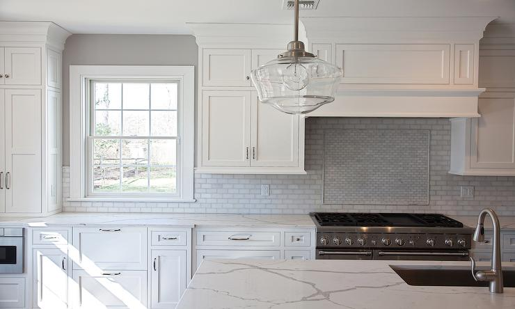 beautiful white transitional kitchen clear glass brick vector picture brick tile backsplash