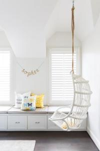 Teen Bedroom Hanging Chair Design Ideas