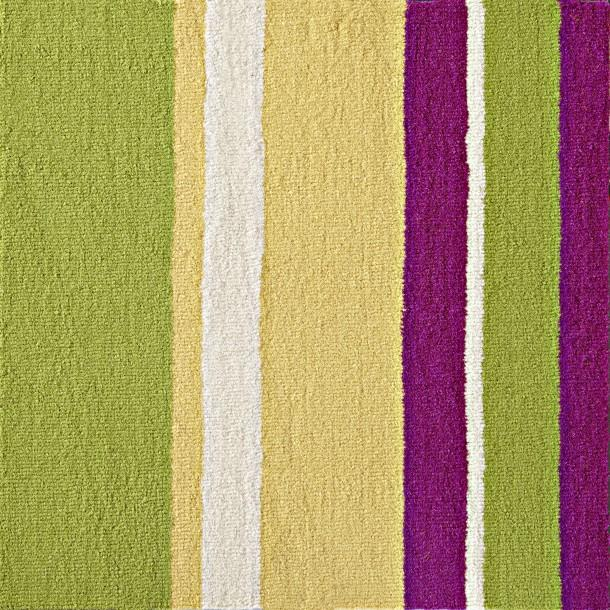Purple and Green Various Stripes Rug