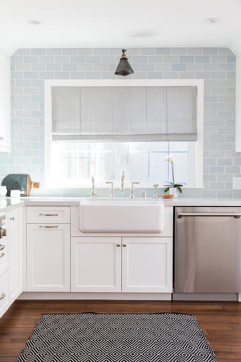 blue subway tile kitchen couchable kitchen rich brown cabinetry mosaic tile backsplash hgtv