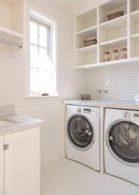 Laundry Room Shelf Over Washer Dryer ...