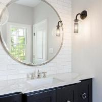 Bathroom Backsplash Marble Shelf - Contemporary - Bathroom