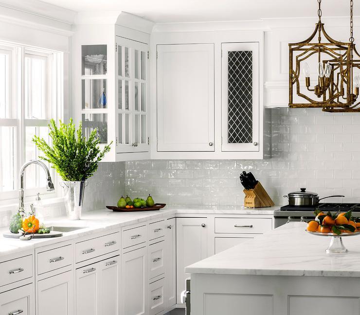 white kitchen white glazed subway backsplash tiles transitional white kitchen cabinet glass metal backsplash tile backsplash