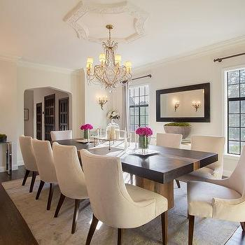 All Black Wallpaper Glamorous Dining Room Design Ideas
