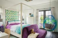Blue and Purple Girl Bedroom with Anthropologie Knotted ...