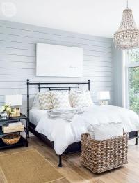 Shiplap Bedroom Wall Design Ideas