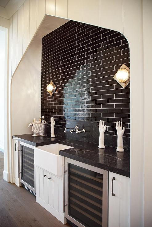 Black And White Wallpaper Decor Interior Design Inspiration Photos By H Ryan Studio