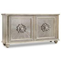 Gray 4 Door Mirror Facing Credenza