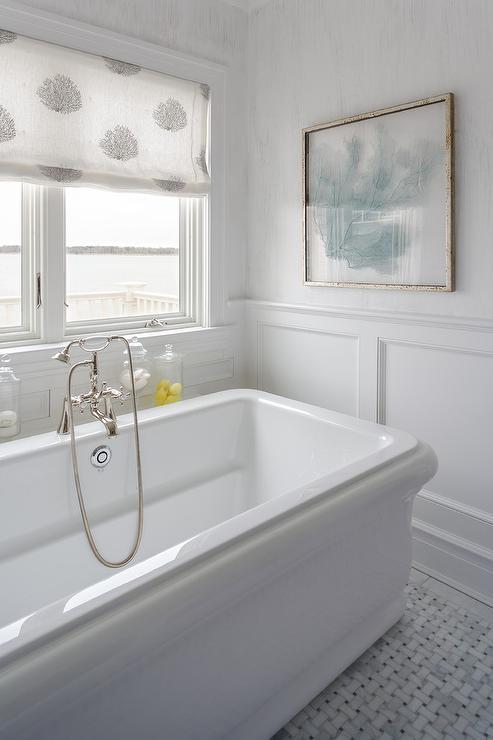 Black Keys Wallpaper Beach Style Bathroom With Blue Sea Fan Art Cottage