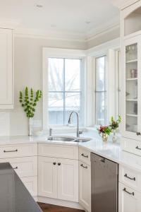 Corner Kitchen Sink Design - Transitional - Kitchen
