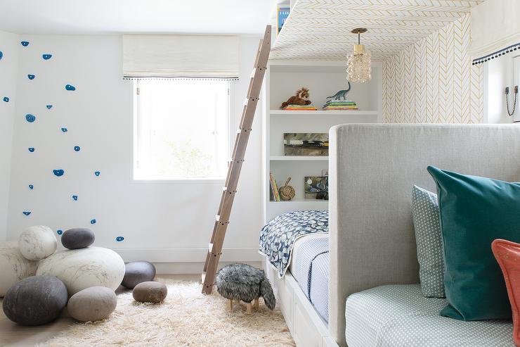 Light Gray Shiplap Built In Beds Cottage Girl39s Room