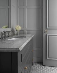 All Gray Bathroom - Transitional - Bathroom
