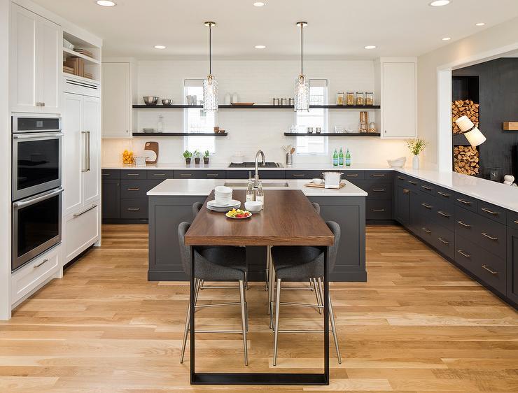 T Shaped Kitchen Breakfast Bar Contemporary Kitchen