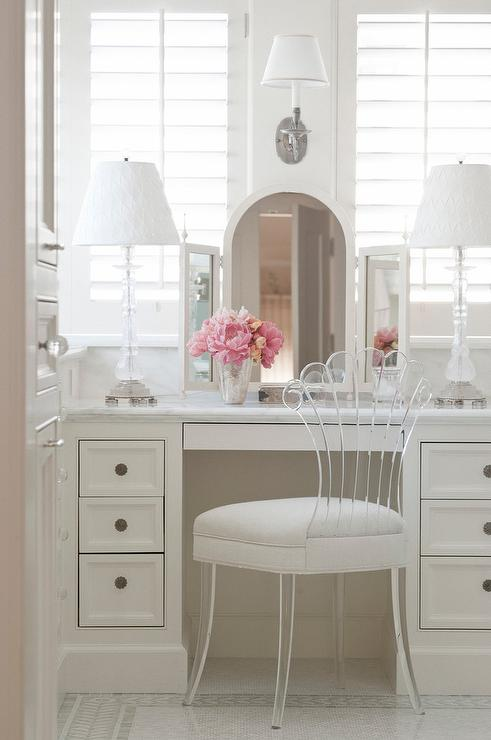 Dressing Table Mirror Built In Dressing Table With Lucite Vanity Chair
