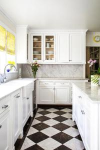 Black And White Kitchen Floor Creditrestore Within Black ...