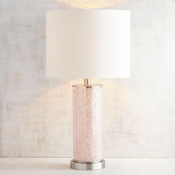 Glitter Girl Wallpaper Pink Quartz Table Lamp