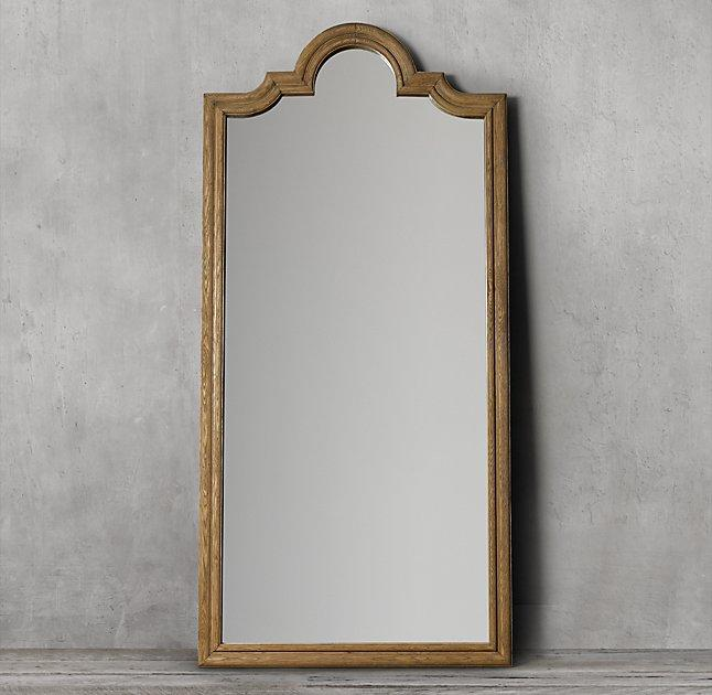 Beveled Mirror Wood Frame Dakota Leaner Brown Beveled Mirror