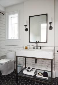 Bathroom with Mixed Tiles - Contemporary - Bathroom