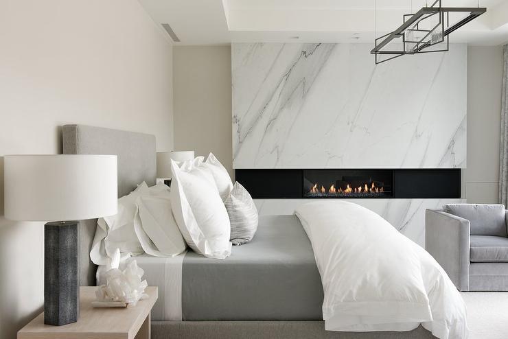 Black And White Wallpaper Living Room Dark Gray Velvet Wingback Bed With Black Mirrored