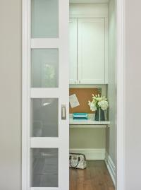 Frosted Glass Pocket Door - Contemporary - bathroom ...