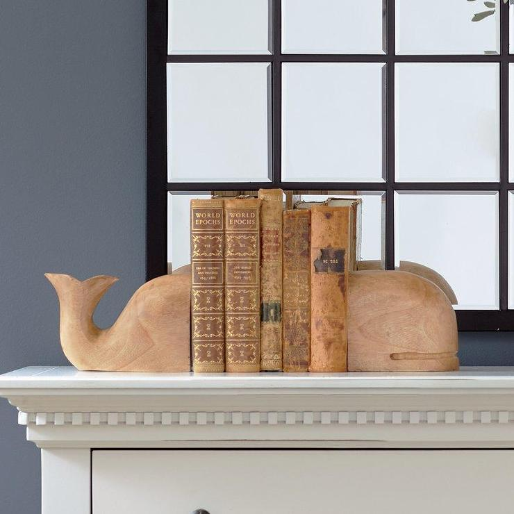 Stacked Cabinets Turquoise Whale Bookend