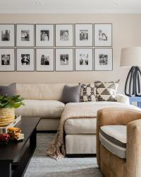 Sofa Gallery Wall | Creativeadvertisingblog.com