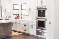 White Kitchen Cabinets with Oil-Rubbed bronze Hardware ...
