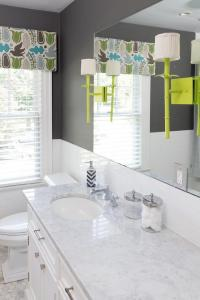 Charcoal Gray and Lime Green Kid Bathroom Accent Colors ...