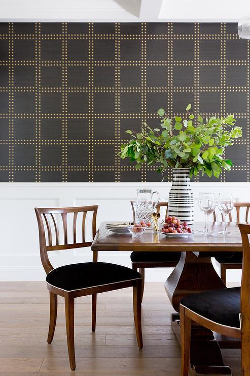Black And White Wallpaper Decor Wallpaper For Foyer Eclectic Entrance Foyer Tilton