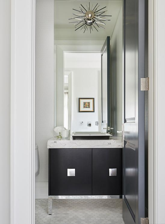 Contemporary Wall Sconces Striped Powder Room - Transitional - Bathroom - Hgtv