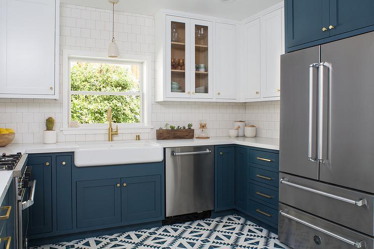 Dark Blue Kitchen Cabinets Design Ideas