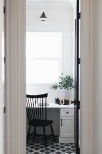 Black Beadboard Trim With Black Chair Rail Design Ideas