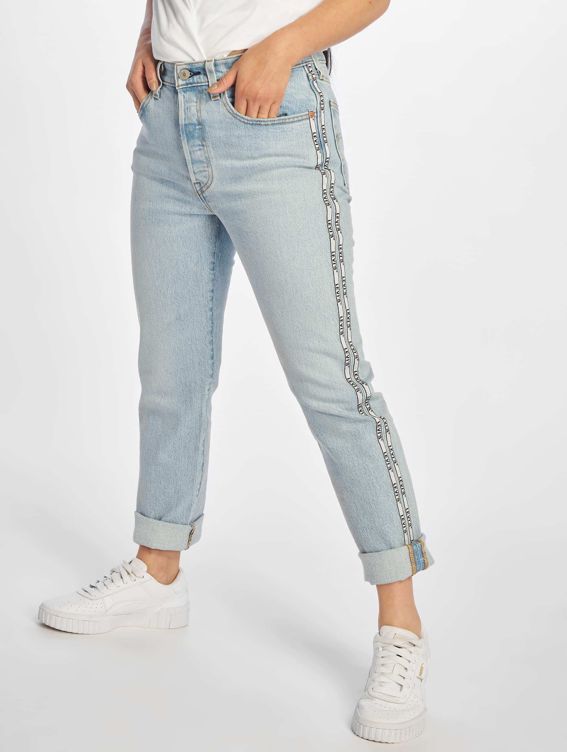 Levis 501 Femme Coupe Droite Levi S 501 Crop Straight Fit Jeans Dibs With Tape