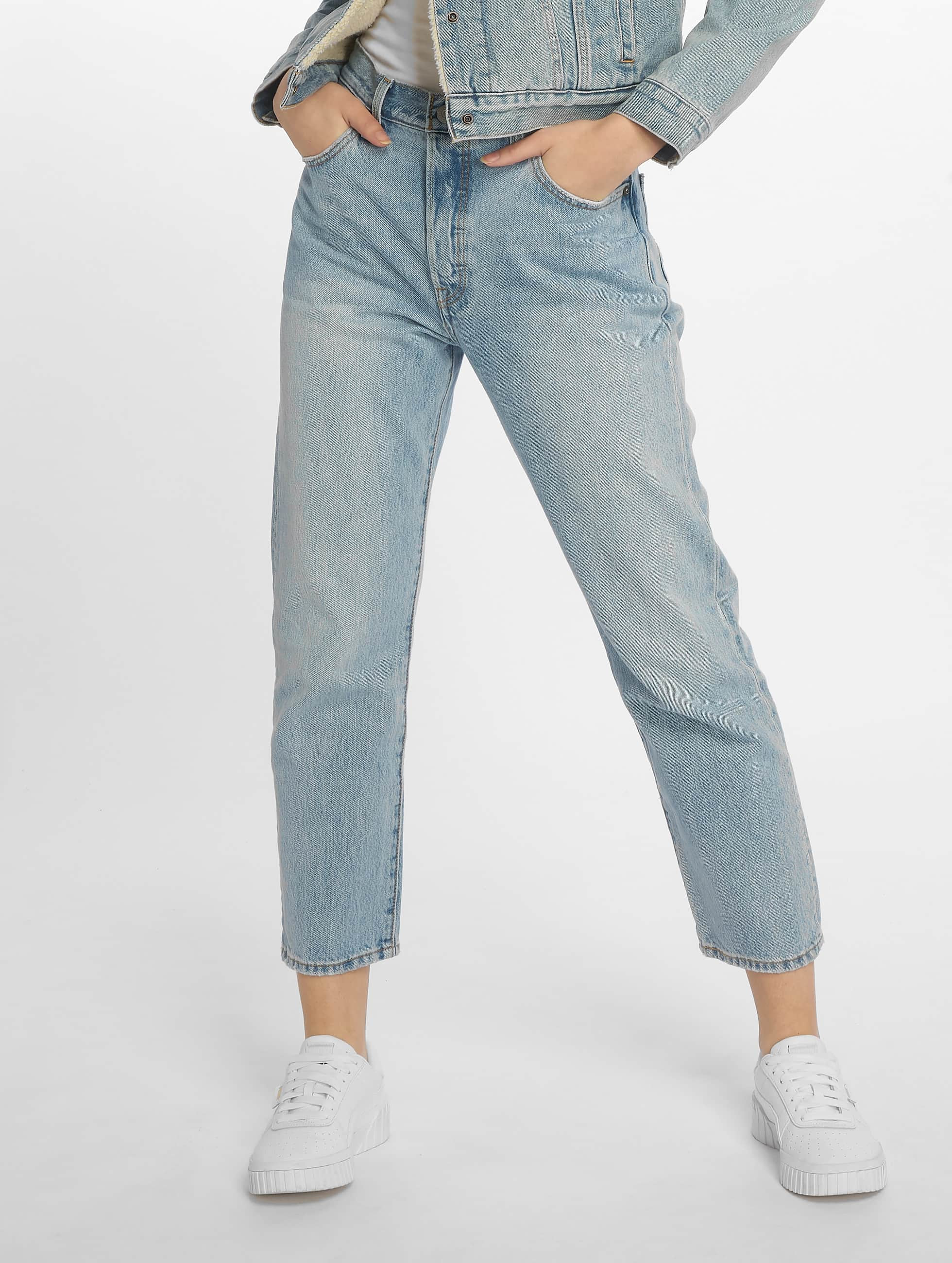 Levis 501 Femme Coupe Droite Levi S 501 Crop Lovefool Straight Fit Jeans Med Indigo Worn In