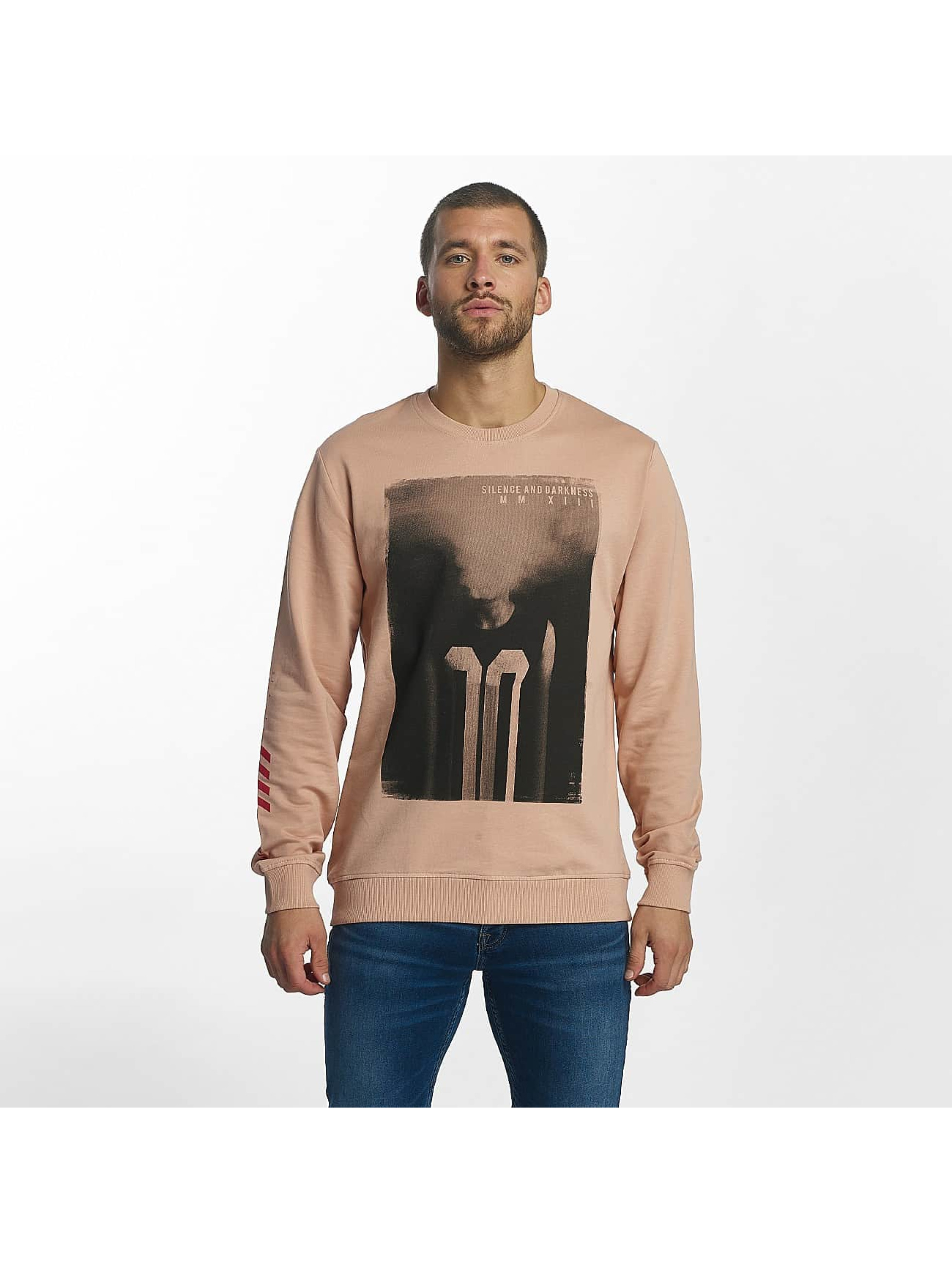 Männer Pullover Rosa Only Sons Onsfire Red Photoprint Misty Rose