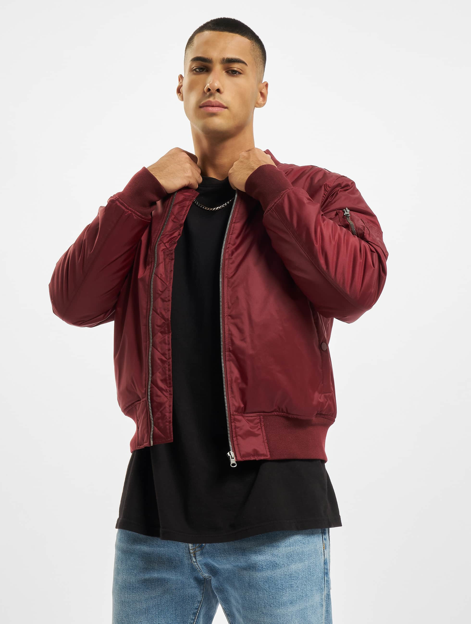Nike Fleece Kinder Urban Classics Herren Bomberjacke Basic In Rot 201943