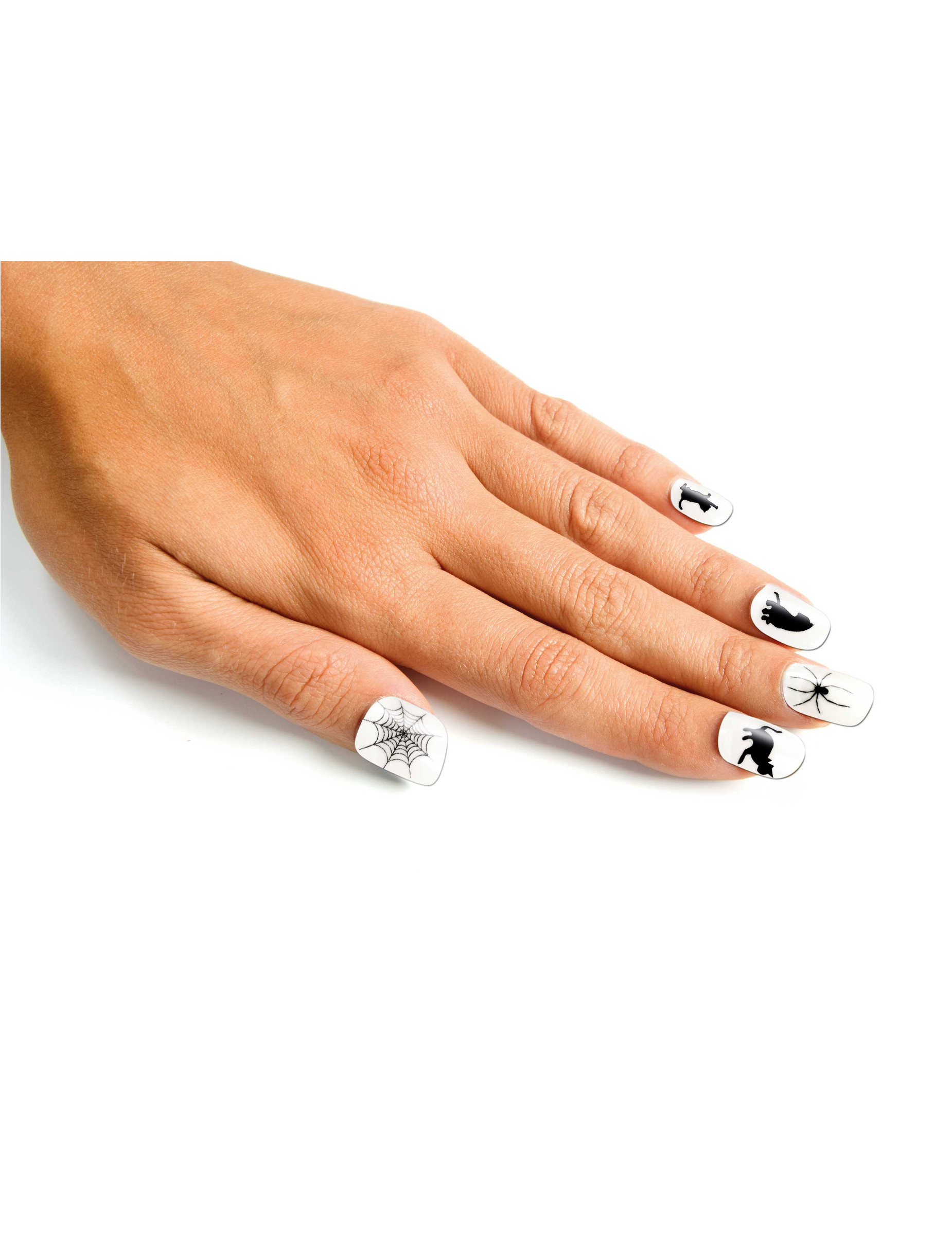 Faux Ongles Faux Ongles Blancs Adulte Halloween