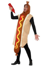 Hot dog costume for adult
