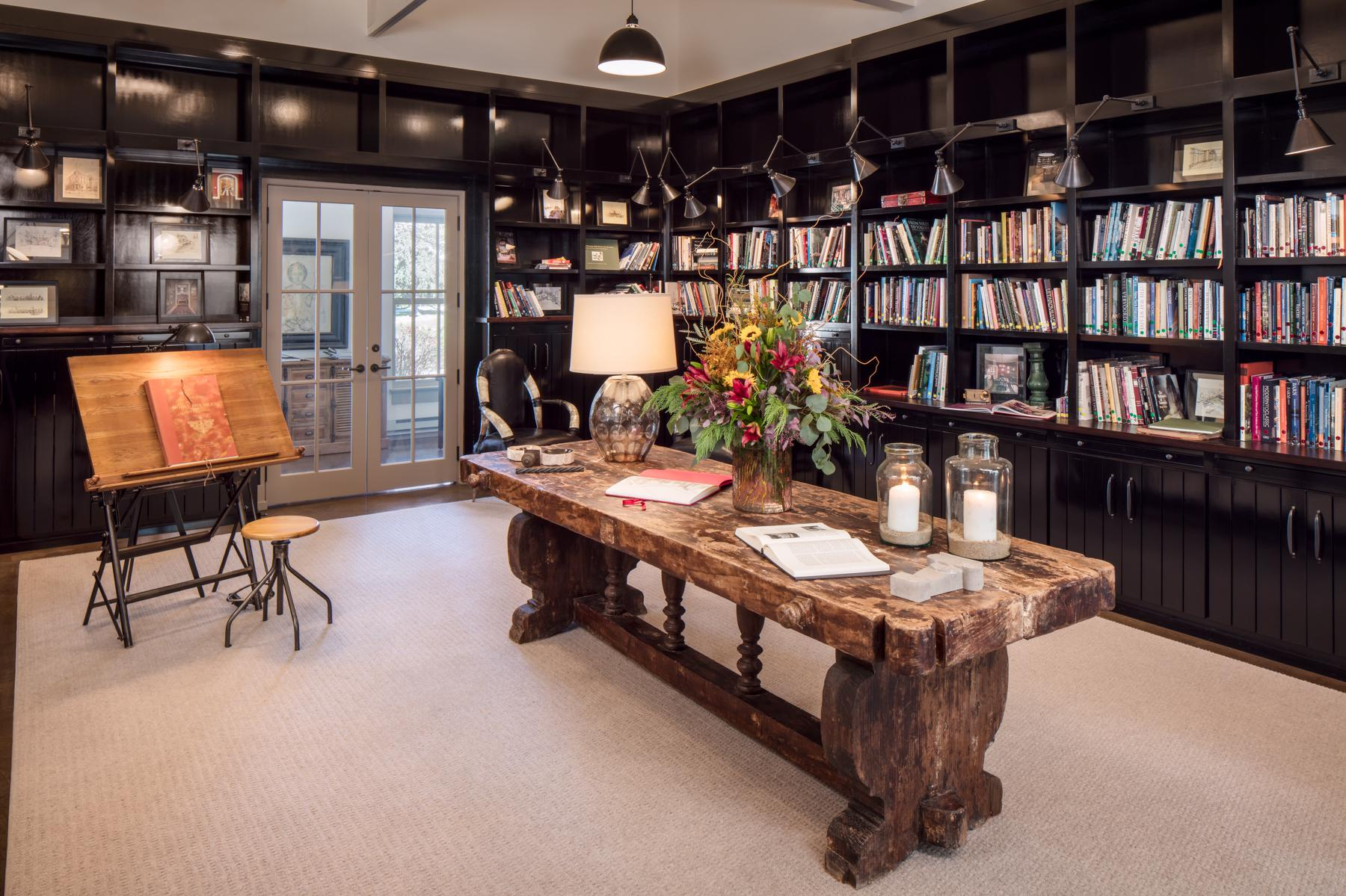 Home Office Library Rustic Libraries Home Offices Inspiration Dering Hall